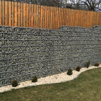 Gabiónový plot - v. 0,4 m, d. 2,5 m, š. 20-40 cm, oko 5x20 cm bez stĺpiku